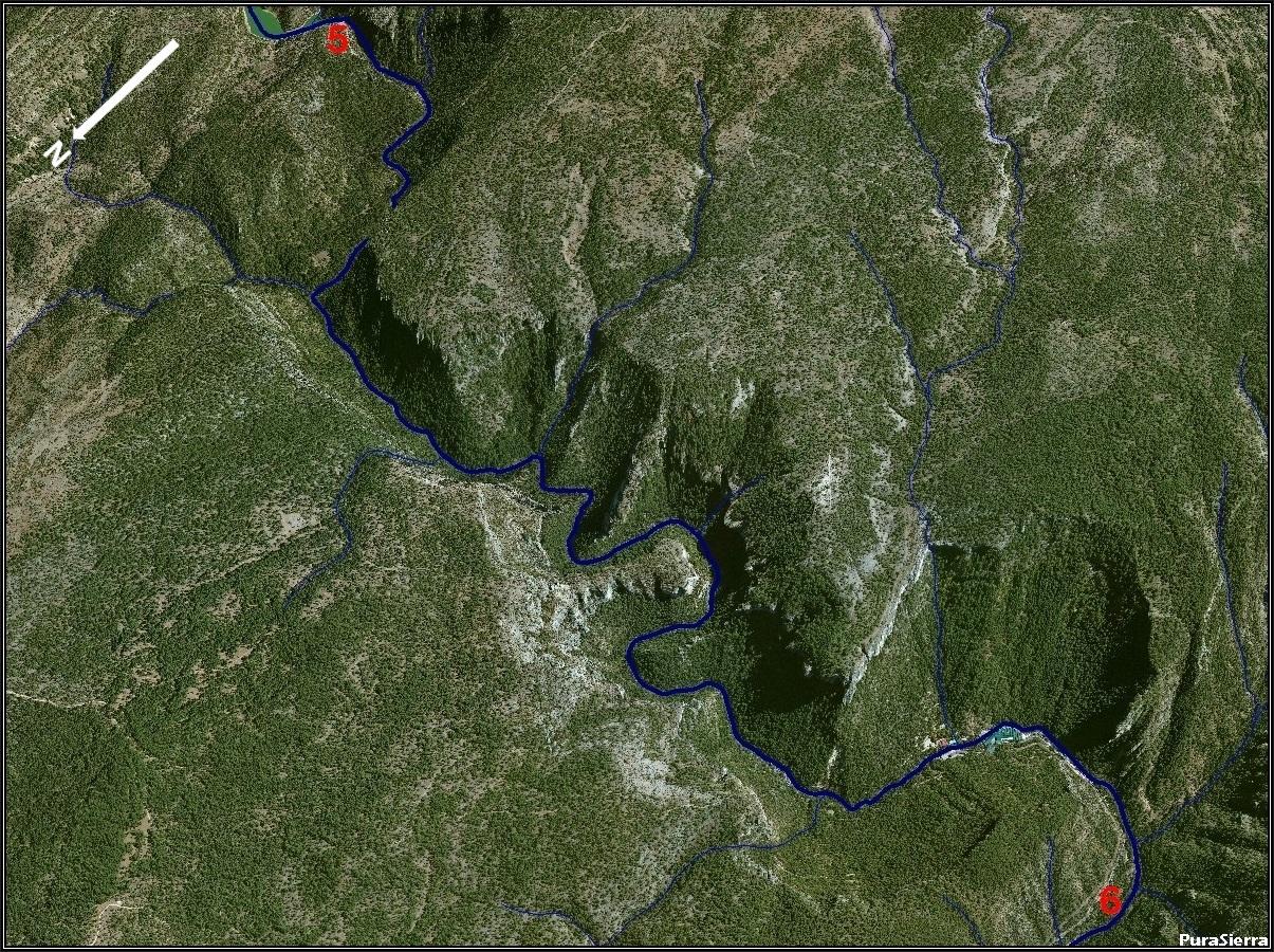 El Río Cuervo a vista de pájaro (imagen 6)