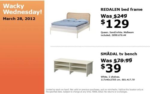 Canadian Daily Deals Ikea Canada Wacky Wednesday Deals