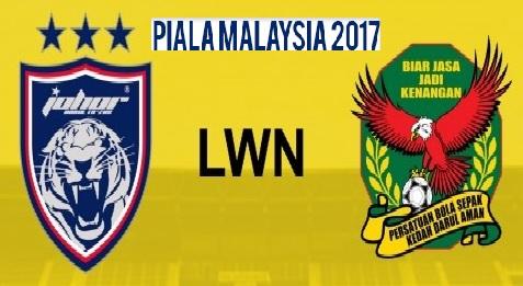 Keputusan JDT Vs Kedah Piala Malaysia akhir 2017