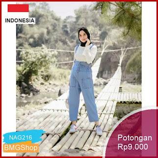 NAG216 Celana Overall Jeans Premium Murah Bmgshop