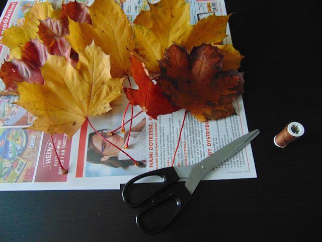 bukiet z liści DIY
