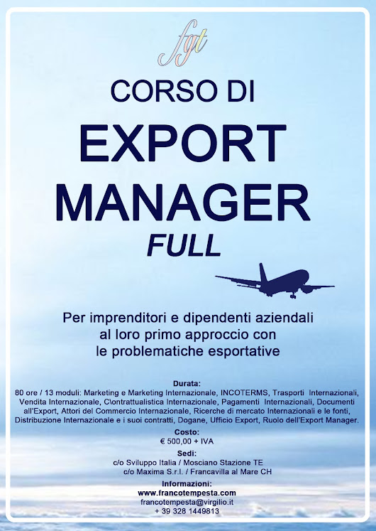 "Tempesta and Partners Consulting: Corso per Export Manager ""Full"""