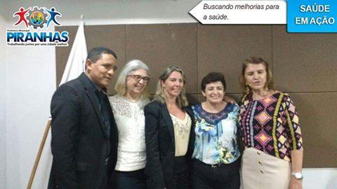 Prefeita Maristela e secretária de saúde buscam melhorias para a saúde do município de Piranhas