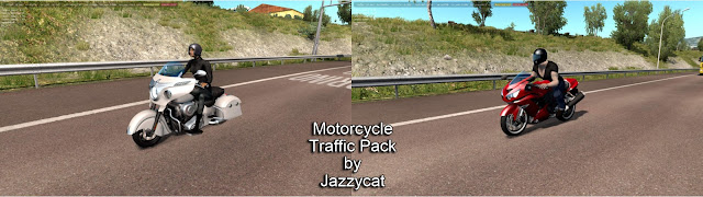 ats motorcycle traffic pack v2.3 screenshots 1, Indian Chieftain, Kawasaki Ninja ZX-14R