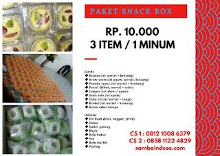 harga snack  box 2018 kota Tangerang