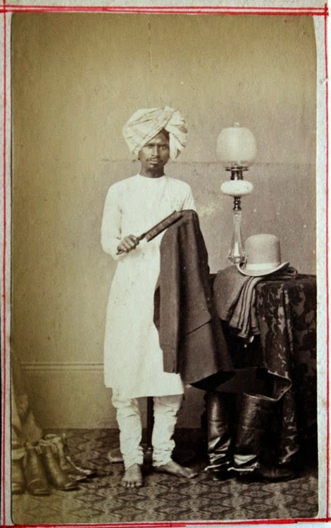 Photograph of an Indian Servant - c1880's