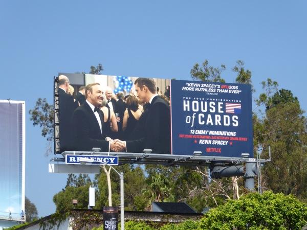 House of Cards season 4 Emmy nomination billboard