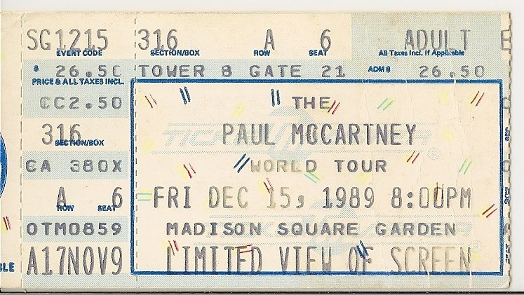 Rock on vinyl paul mccartney live unapproved 1993 bootleg - Paul mccartney madison square garden tickets ...