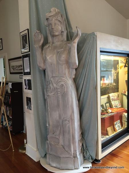 Pacifica Statue in Little Brown Church in Pacifica, California