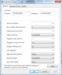 Mengatur Format Tanggal, Waktu & Angka