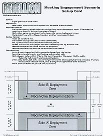 Meeting Engagement Scenario Setup Card