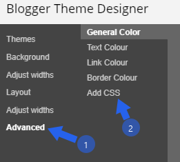 Adding CSS Codes to Blogspot