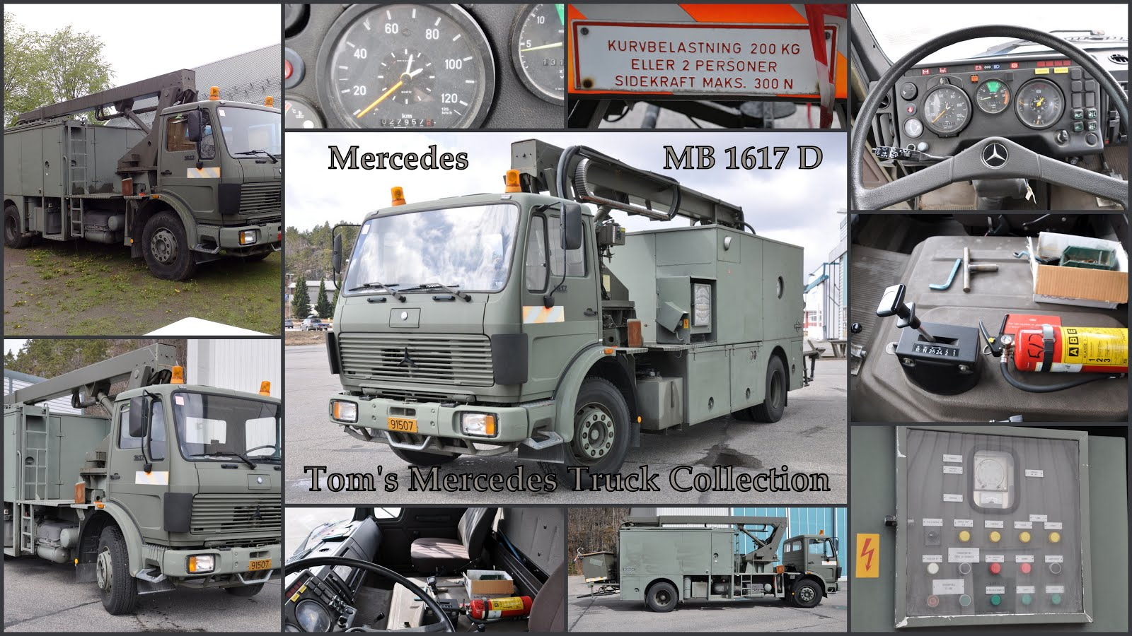 Mercedes MB 1617 D Army Truck 1617/52 1986
