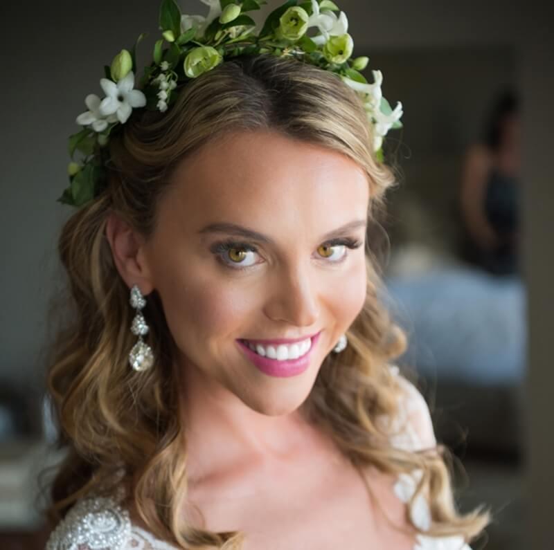 Coroas de flores para noivas