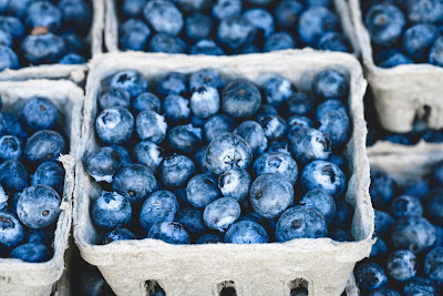 Free food stock photos and high quality images - Pile of Fresh Blueberries.