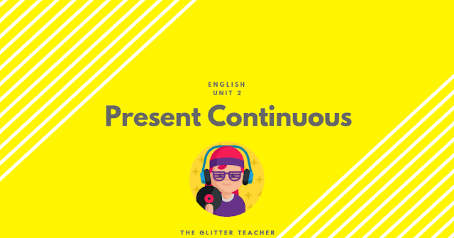 Present continuous tense. English year 6