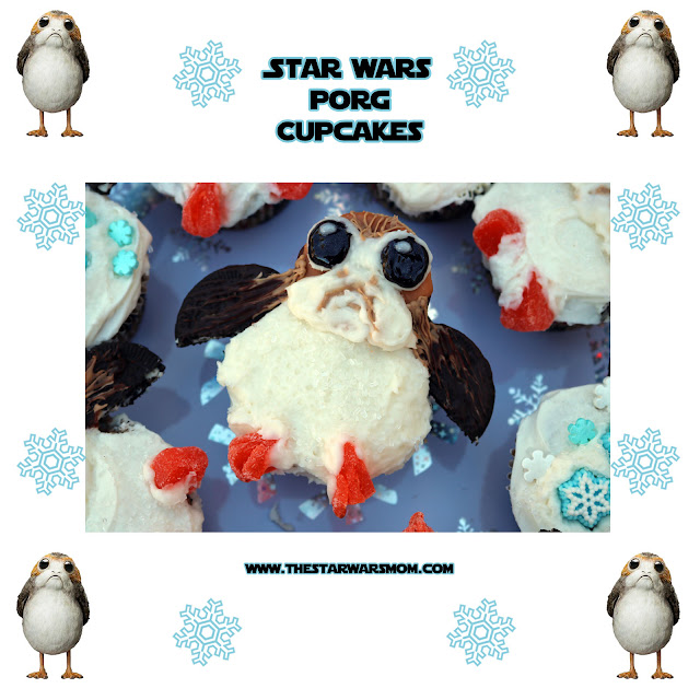 Porgs Cupcakes from Star Wars The Last Jedi - Close Up