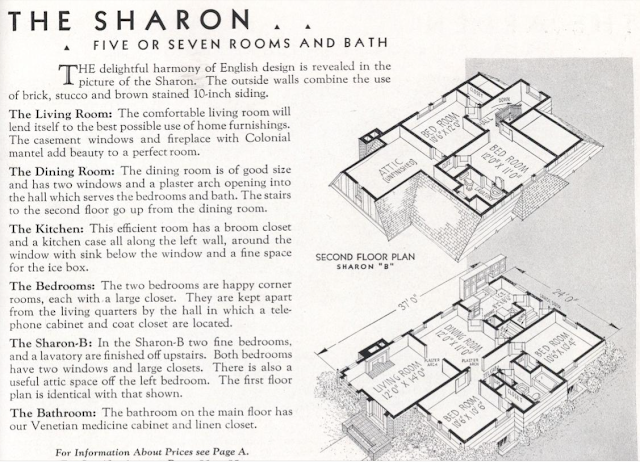 Gordon-Van Tine Sharon floor plan