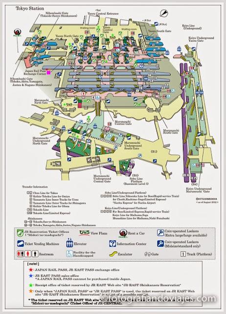 Plano de la estación de Tokyo