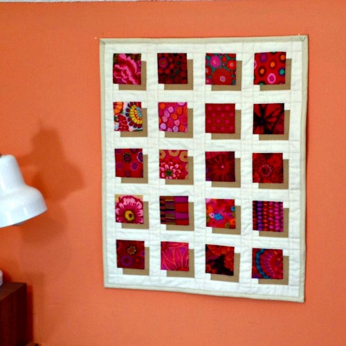 Shadow Block Mini Quilt - Free Pattern