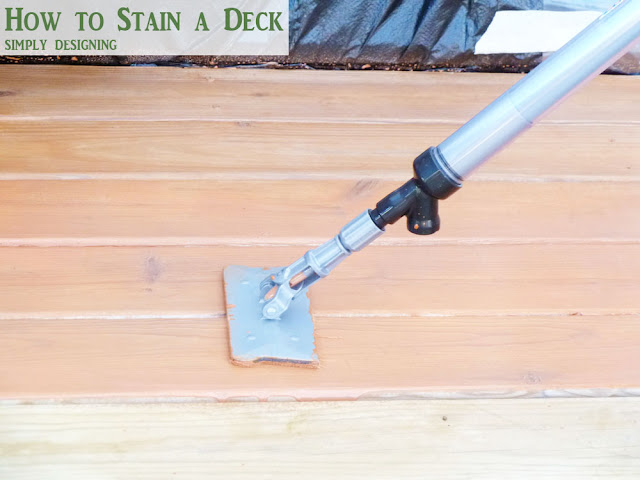 How to Stain a Deck and Pergola | #deck #stain #diy | @SimplyDesigning
