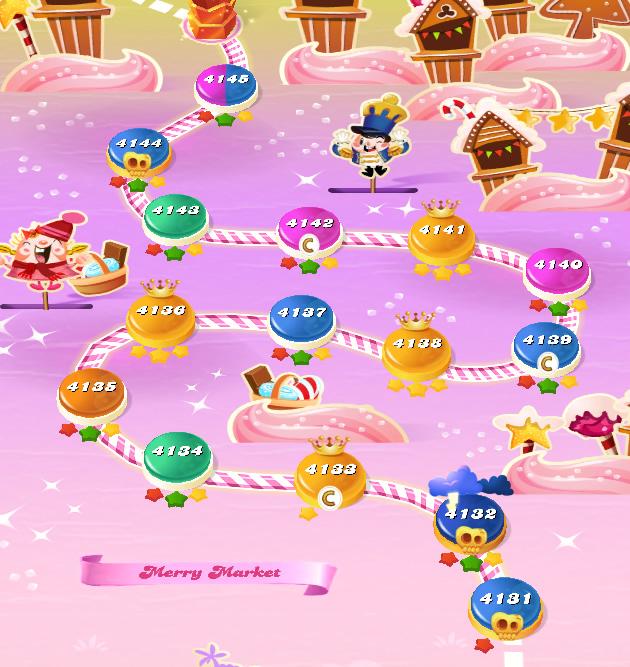 Candy Crush Saga level 4131-4145