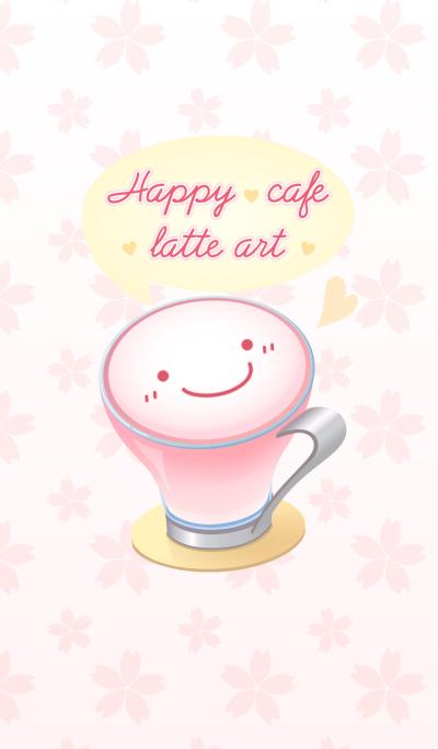 Happy cafe latte art