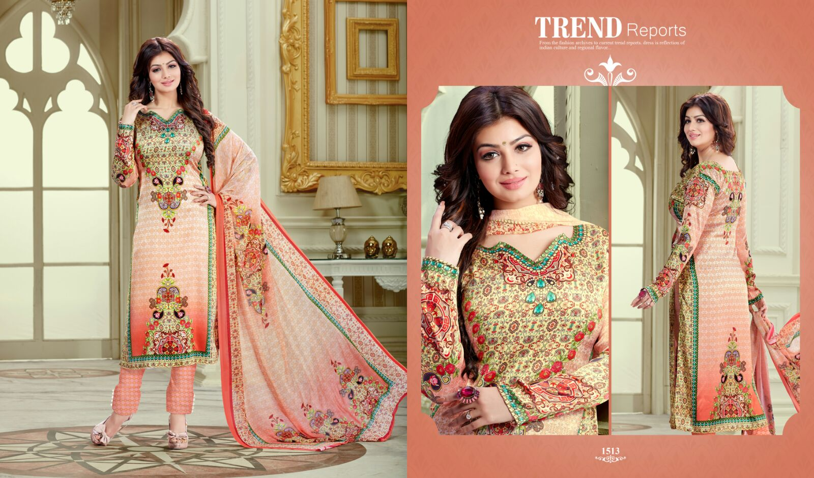Haseen Vol 5 – Satin Cotton Designer Printed Churidar Salwar Suit