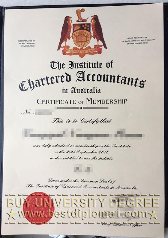 ICAA certificate