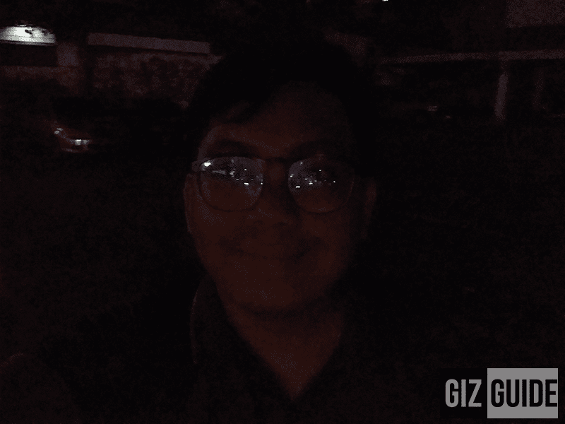Lowlight selfie camera sample