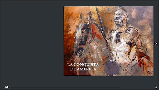 CONQUISTA-AMERICA-CONQUISTADORES-ESPAÑOLES-ARTE-PINTURA-LIBRO-DIGITAL-PORTADA-ARTISTA-PINTOR-ERNEST DESCALS