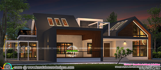 3479 sq-ft modern contemporary bungalow