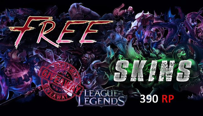 FREE Skin GiveAway - League of Legends 390 RP | LoL
