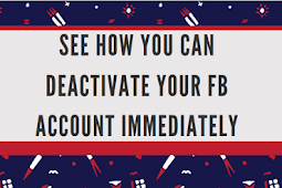 See how you can deactivate your Fb account immediately #DeactivateFacebook