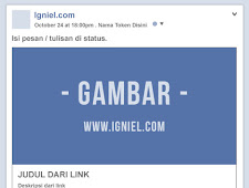 Cara Memanipulasi URL / Link yang Dibagikan di Facebook