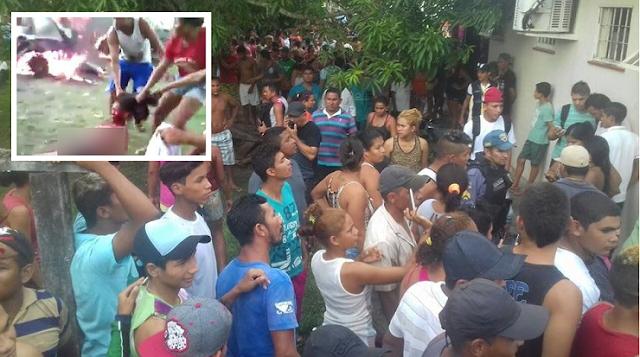 شاهد كيف أخرجت هذه الحشود قاتلة طفل من السجن وأحرقتها نعتذر عن بعض المشاهد لقساوتها