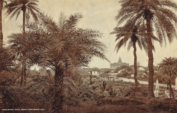 Mahaluksmee Temple at Breach Candy in Bombay (Mumbai) c1900