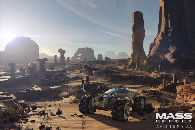 Vehículo de exploración espacial en Mass Effect Andromeda, el videojuego de BioWare