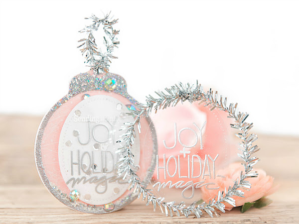 Joy + Holiday Magic - Clear Cardstock Ornament Tags | Delicate Series