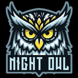 logo burung hantu hitam putih