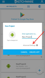 How to Create Your First Android App Project In Sketchware ?