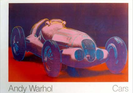 Cars by Andy Warhol (W125) Poster, available in the collection of l'art et l'automobile