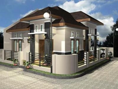 Desain Terbaru Rumah Minimalis Sederhana Lokasi Pojok Paling Nyaman Ditempati 5
