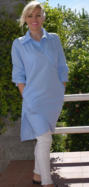 abito camicia a righe abito camicia azzurro outfit abito chemisier come abbinare un abito chemisier abito camicia vestito camicia outfit primaverile mariafelicia magno fashion blogger colorblock by felym fashion blogger italiane