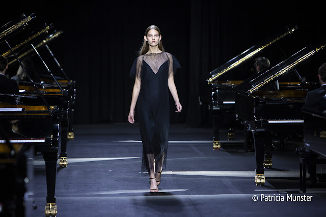 Black dress by David Laport SS2019 - AFW2018