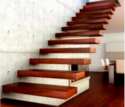 model tangga kayu minimalis