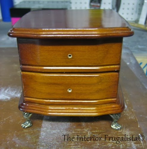 Thrift store jewelry box Before