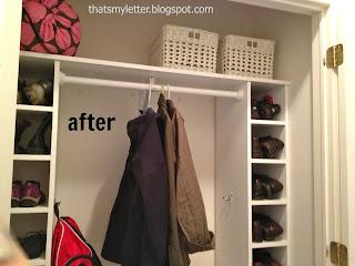 diy mudroom closet after shoe cubbies