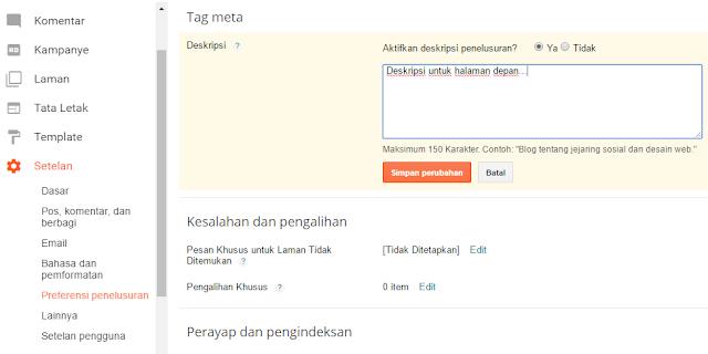 Format Meta Tag SEO untuk Blogspot