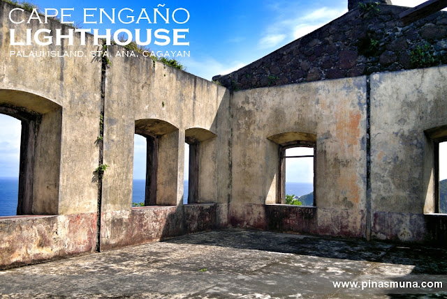 Walls of Cape Engaño Lighthouse on Palaui Island